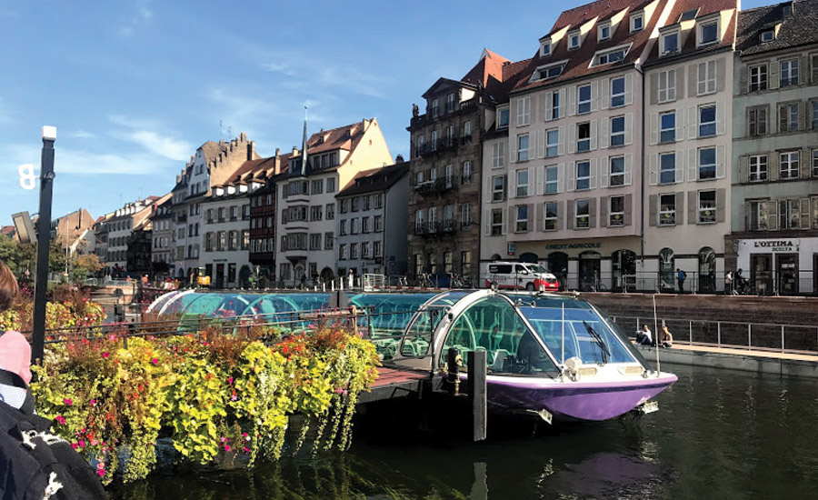 boat tour of Strasbourg, France
