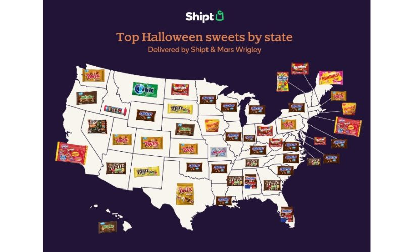 Mars Wrigley favorite candy in each state