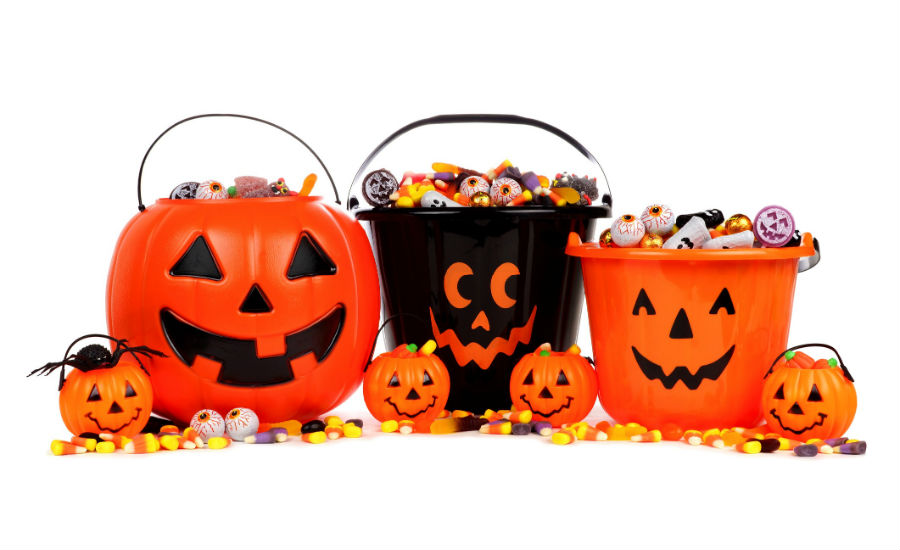 halloween buckets stock