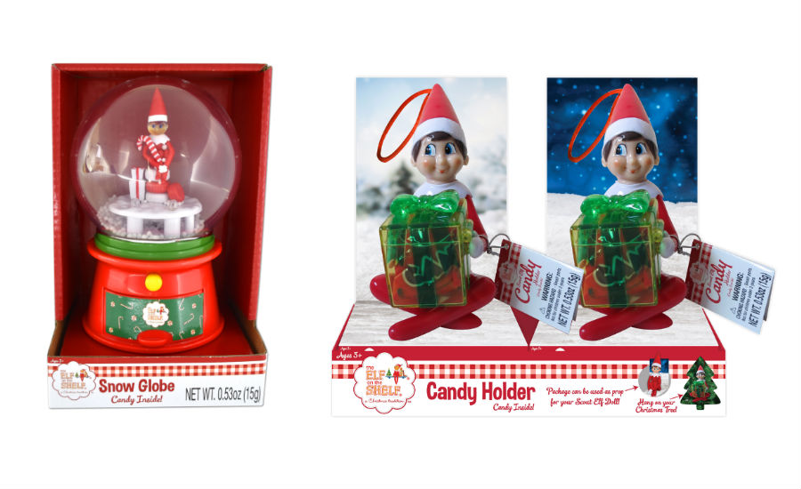 Elf on the Shelf snow globe, candy dish
