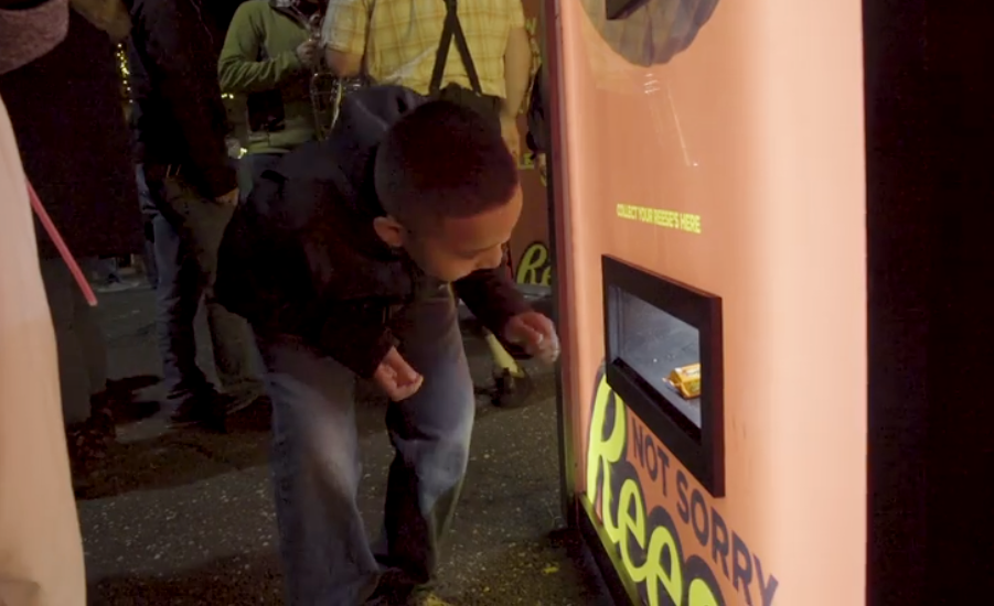 reese s to install halloween candy exchange machine in nyc park
