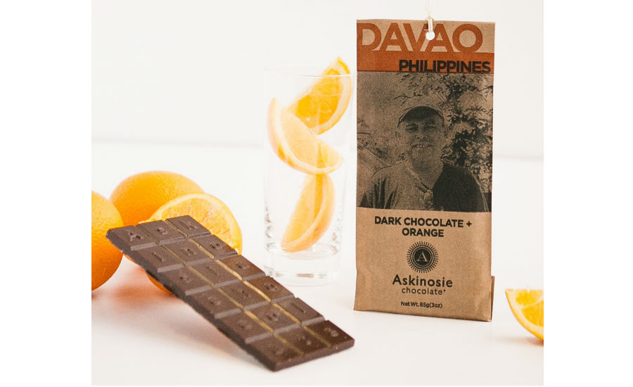 Askinosie Dark Chocolate Orange bar