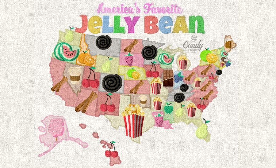 Jelly bean flavor map 2020