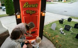 Reeses Halloween door