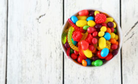 Candy bowl stock