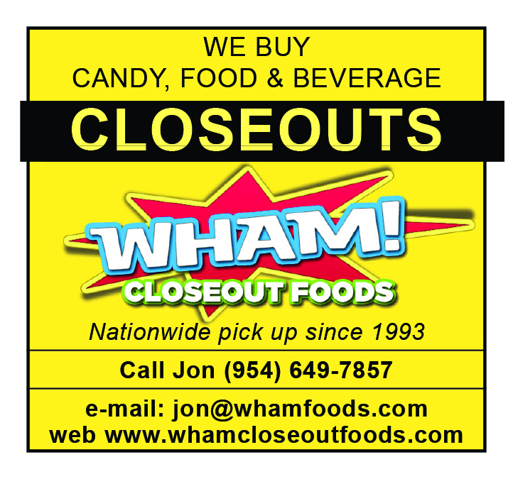 WE BUY CANDY, FOOD & BEVERAGE