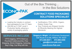 Contract Food Packaging Solutions Specialist