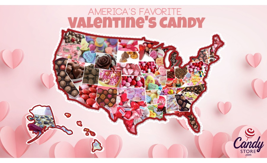 50 states Valentines Day Candy 20201
