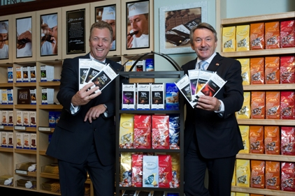 Thomas Lindemayer (left), president of Lindt USA, and Ernst Tanner, chairman of Lindt & Str�¼ngli at the Lindt USAâ??s retail shop in Stratham, N.H in 2009.
