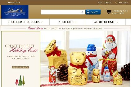 Lindt USA Website