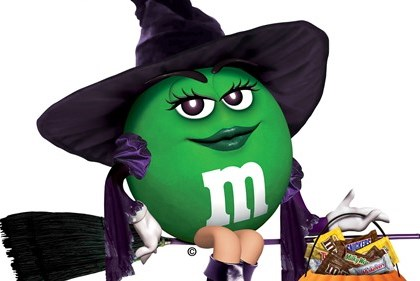 halloween green mm