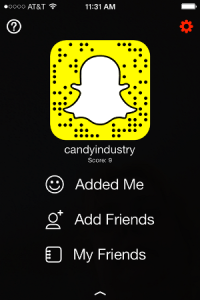 Candy Industry Snapchat