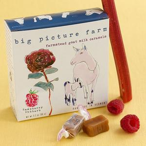 Big Picture Farm Raspberry Rhubarb Goat Milk Caramels