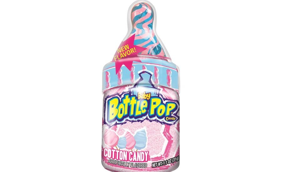 Bazooka S New Cotton Candy Flavored Baby Bottle Pops