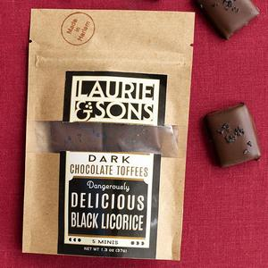Laurie  Sons Dangerously Delicious Black Licorice Chocolate Toffee