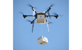 Flirtey's drone delivering 7-Eleven goods in Reno, Nev.
