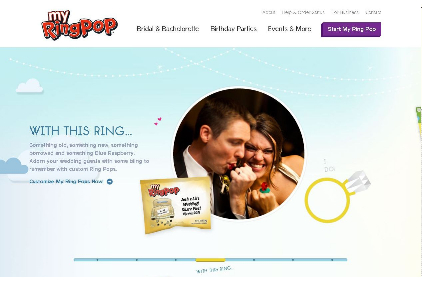 My Ring Pop customized website