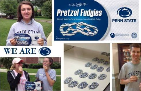 Wolfgang Candy Co. Penn State Pretzel Fudgies