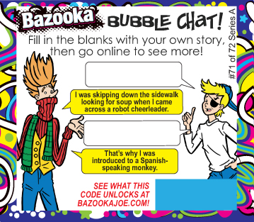 bazooka gum relaunch comic