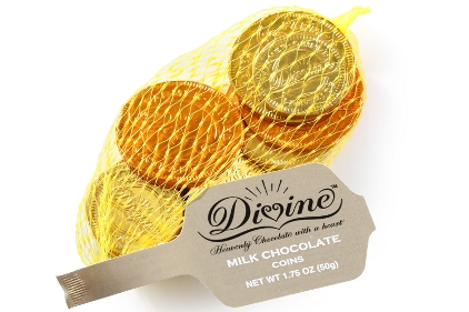 Divine Chocolate Gold Coins