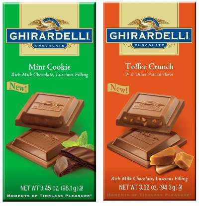 Ghiradelli Filed Bars Mint Chocolate Toffee Crunch