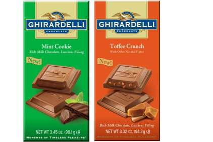 Ghiradelli Filed Bars Mint Cookie Toffee Crunch