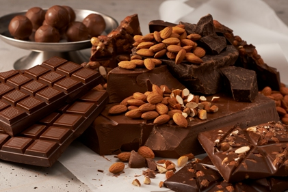 almonds and chocolate