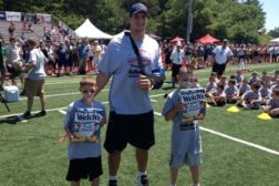 Welchs Fruit Snacks Dante Randall Black and John Bergeron at Rob Gronkowskis ProCamps