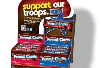 peanut chews support our troops