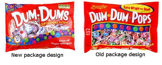 dum dums package design