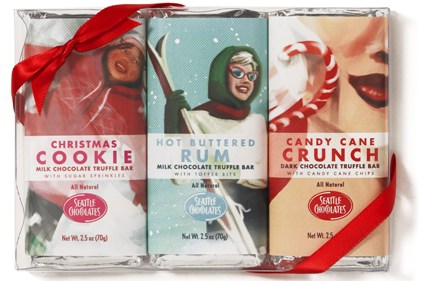 seattle chocolates holiday bars