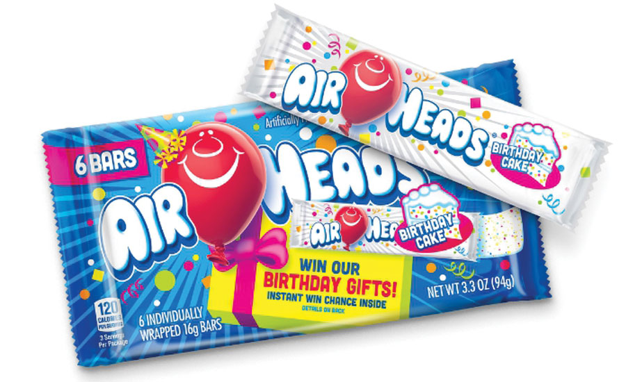To Kick Off The Celebration Airheads Released A New Limitededition Birthday Cake Flavor Bar