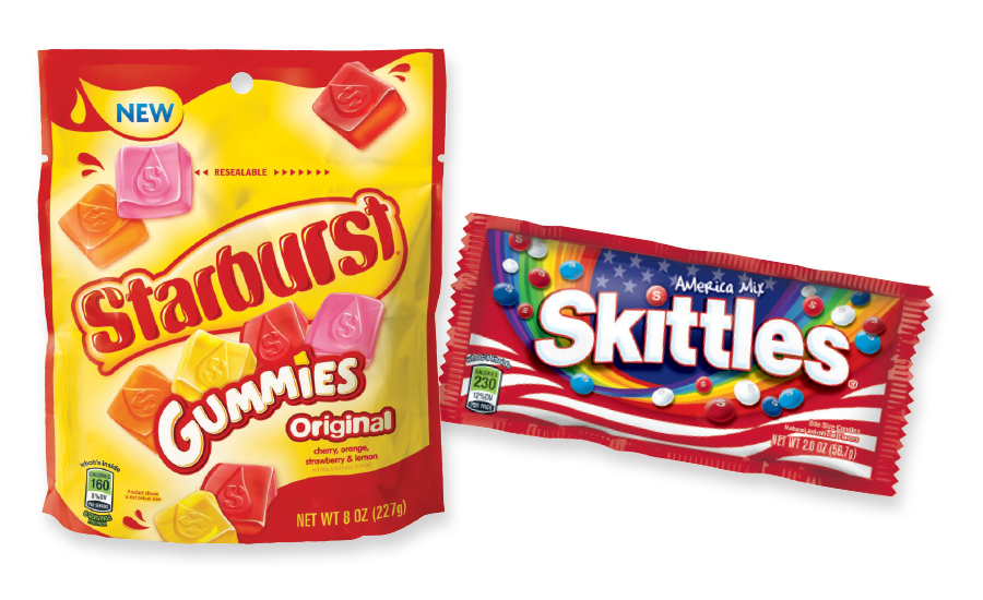 Skittles America Mix and Starburst Gummies