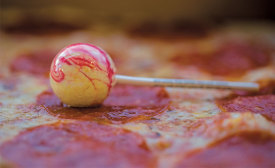 Pizza lollipop